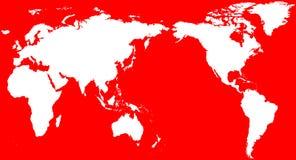 Christmas Santa's Gift World Map Stock Photo