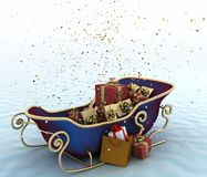 Christmas Santa's sleigh with presents Stock Photography