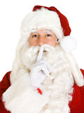 Christmas: Santa Says To Keep A Quiet Secret Royalty Free Stock Photos