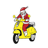Christmas Santa scooter Stock Photo