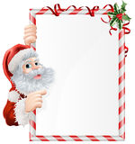 Christmas Santa Sign Stock Photo