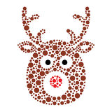 Christmas santa sleigh icon made of circles Stock Photos