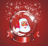 Christmas Santa snow globe Royalty Free Stock Photo