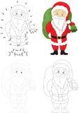 Christmas Santa St Nicolas. Dot to dot game for kids Royalty Free Stock Image