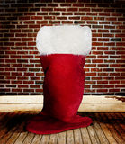 Christmas Santa Stocking stock photos