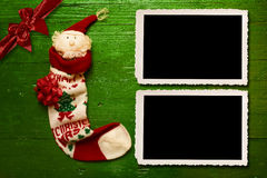 Christmas Santa two photo frames Stock Image