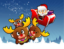 Christmas santa vector royalty free stock photography
