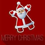 Christmas Santa vector card Royalty Free Stock Image