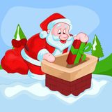 Christmas Santa Vector Illustration Stock Photo