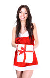 Christmas Santa woman Royalty Free Stock Photography