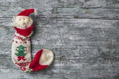 Christmas Santa wooden background Stock Photos