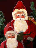 Christmas santas. Photo taken of wooden santas that I have made. They were handpainted by me Royalty Free Stock Image