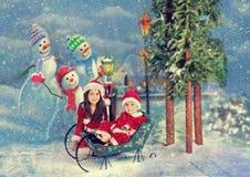 Christmas santas Royalty Free Stock Images