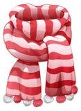 Christmas Santas striped scarf Stock Photos
