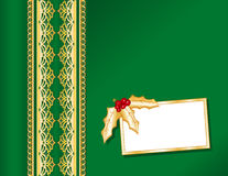 Christmas Satin & Gold Lace Stock Photos