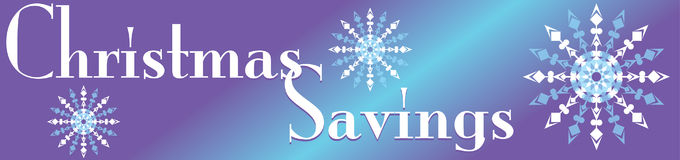Christmas Savings Banner Stock Image
