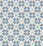 Christmas Scandinavian flat style white and blue knitted seamles Stock Photography