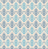 Christmas Scandinavian flat style white and blue knitted seamles Royalty Free Stock Photography