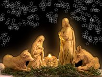 Christmas scene. Night christmas scene Royalty Free Stock Photography