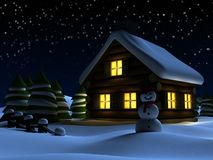 Christmas scene. 3d rendered illustration of a christmas scene Stock Photography