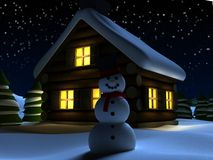 Christmas scene. 3d rendered illustration of a christmas scene Royalty Free Stock Image