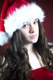 Christmas scene with angel girl Stock Image