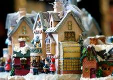 Christmas Scene Decoration. Miniature Christmas scene depicting carolers Stock Photos