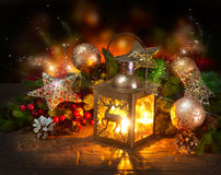 Free Christmas Scene. Greeting Card Royalty Free Stock Photography - 27697787