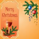 Christmas scene with hanging ornamental balls. Unique concept for Christmas scene with hanging ornamental, colorful Christmas balls, snowflakes and Christmas vector illustration