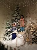 Christmas Scene. Mannequins from a Christmas Display Stock Image