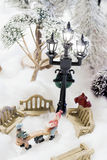 Christmas scene in miniature Royalty Free Stock Photos