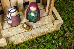 Christmas Scene - Nacimiento Royalty Free Stock Image
