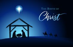 Free Christmas Scene Of Baby Jesus In The Manger Royalty Free Stock Photos - 163674778