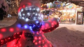 Christmas scene in the park stock video