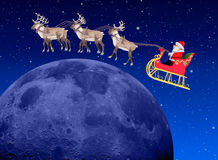 Christmas scene - santa at night Stock Photo