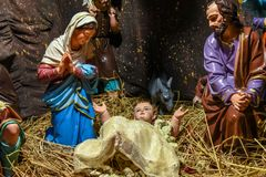 Christmas Jesus birth scene Stock Images