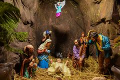 Christmas Jesus birth scene Royalty Free Stock Images