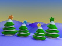 Christmas Scenery Royalty Free Stock Images