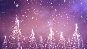 Christmas scenery motion design stock video
