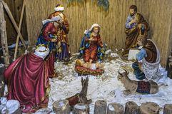 Christmas scenery. In Pecs, Hungary stock photos