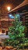 Christmas scenery in Prague royalty free stock photography