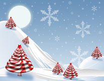 Christmas Scenic Background Royalty Free Stock Images