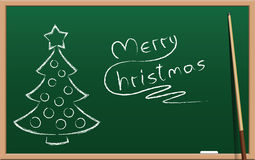 Christmas School Holidays Chalk Board Stock Photography