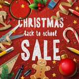Christmas school sale Royalty Free Stock Photography