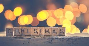 Christmas Scrabbles Bokeh Photography Royalty Free Stock Photos