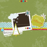 Christmas scrap template Royalty Free Stock Photography