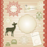 Christmas Scrapbook Stock Image