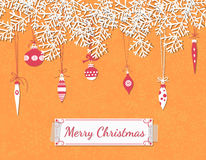 Christmas scrapbook card Stock Photos