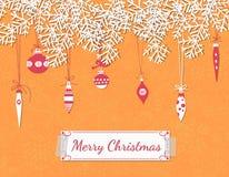 Christmas scrapbook card Stock Photos