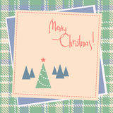 Christmas scrapbook design with tree Royalty Free Stock Image